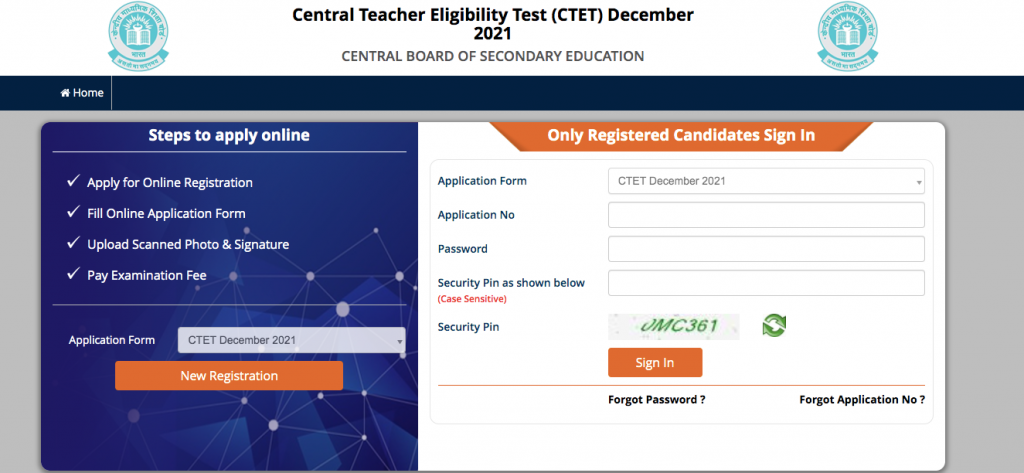 CTET Application Form 2021 Online Registration Dates and Eligibility