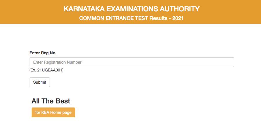 KCET Result 2021 Download rank List and Merit list
