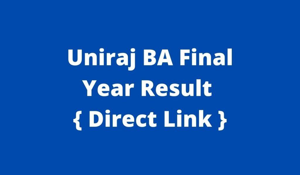 Uniraj BA Final Year Result 2021 { Declared } at result.uniraj.ac.in